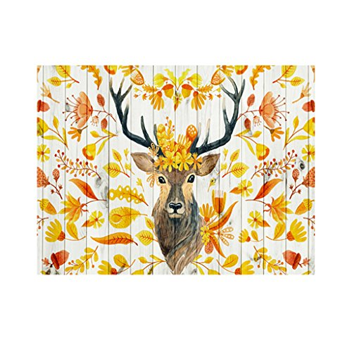 Homyl Rectangle Heat-resistant Placemats Tablecloth Dining Cover Decor 55''x78'' - Coloured Elk