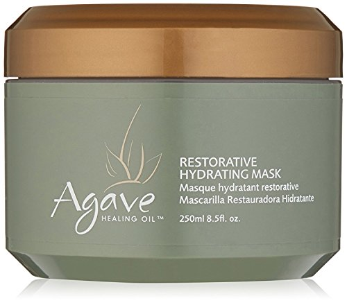 Agave Healing Oil - Restorative Hydrating Mask. Lightweight, Moisturizing Deep Conditioner that Heals Dry and Damaged Hair. Sulfate Free, Paraben Free, Phthalate Free and Cruelty Free (8.5 fl.oz)