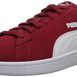 PUMA Men's Smash v2 Sneaker, Red Dahlia White, 9.5 M US