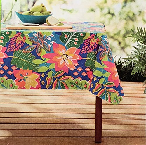 "Mainstays Vinyl Tablecloth 70"" Round Botanical Theme"