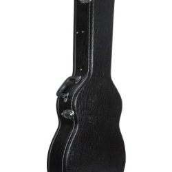 ADM 41 Inch Full Size Hardshell Leather Dreadnought Acoustic Guitar Case - Black