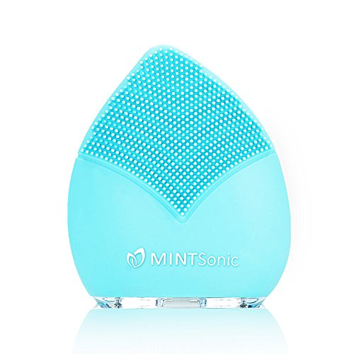 Deep Facial Cleansing Brush Waterproof - Gentle Sonic Face Cleaner - Anti-Aging Skin Care Face Massager - Exfoliating Pore Minimizer to Smooth Skin Help Reduce Blackheads Acne Dark Spots