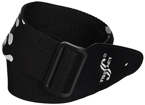 First Act MX073 Guitar Strap, Black Flames
