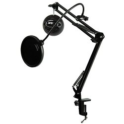 Blue Microphones Snowball iCE Black Microphone with Knox Studio Boom Arm & Pop Filter