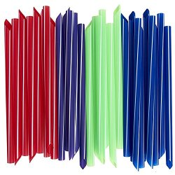 Extra-Wide Smoothie Straws, Bubble / Boba Tea Straws [100-Pack] Individually Wrapped, Assorted Colors