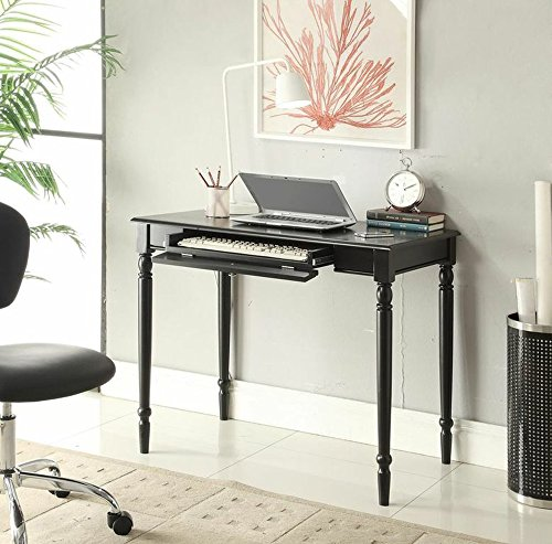 Convenience Concepts French Country Desk, 36-Inch, Black
