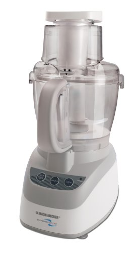Black & Decker PowerPro Wide-Mouth 10-Cup Food Processor, White
