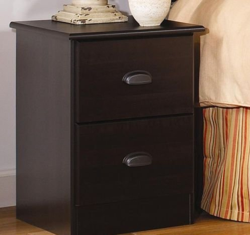 Lang Furniture Special 2-Drawer Night Stand, 16 by 16 by 23-Inch, Espresso Maple