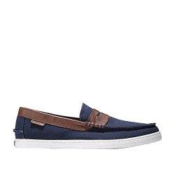 Cole Haan Men's Nantucket Loafer 9.5 Blazer Blue Textile-Chestnut