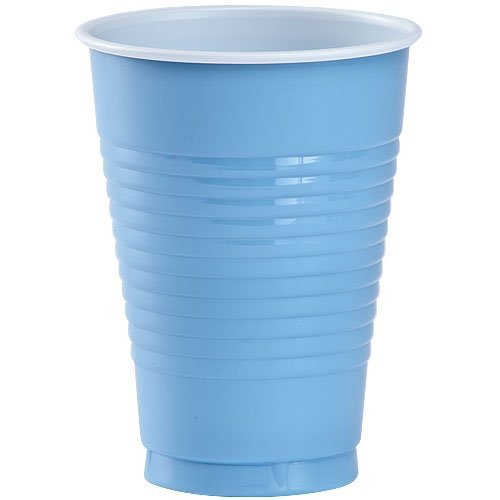 Party Dimensions 20 Count Plastic Cup, 12-Ounce, Light Blue