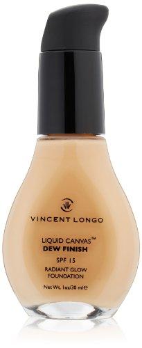 VINCENT LONGO Liquid Canvas Dew Finish Foundation SPF 15, Warm Beige, 1 oz.