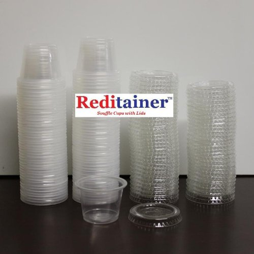 Reditainer Plastic Disposable Portion Cups, 5.5-Ounce, Pack of 100