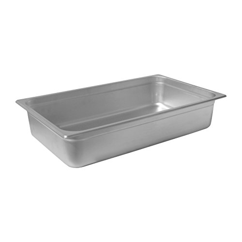 """Chef's Supreme - 4"""" Full Size Stainless Steam Table Pan"""