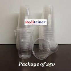 Reditainer - Clear Plastic Stackable Disposable Translucent Beverage Cups (16 Ounce, Package of 250)