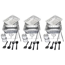 Party Essentials UPK-33, 33 piece Party Serving Kit Includes Chafing Kits and Serving Utensils for all types of parties and events including Birthday, Holiday, Wedding, and Graduation