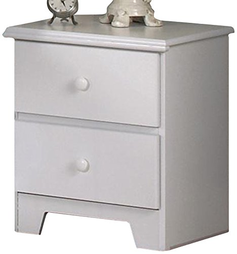 Lang Furniture Shaker 2-Drawer Night Stand with Roller Glides, 16 by 20 by 23-Inch, White