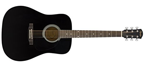 Squier by Fender SA-150 Dreadnought Acoustic Guitar - Gloss Black Finish (Amazon Exclusive)