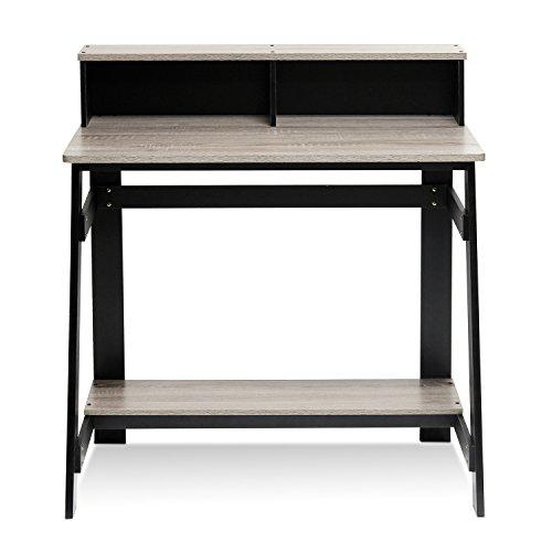 Furinno Simplistic a Frame Computer Desk, Black/Oak Grey