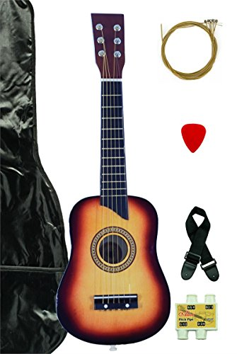 Sunkist Acoustic Toy Guitar for Kids with Carrying Bag and Accessories & DirectlyCheap(TM) Translucent Blue Medium Guitar Pick