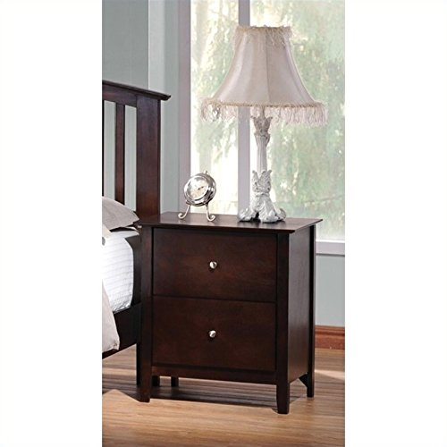 Coaster Home Furnishings Casual Contemporary Nightstand, Cappuccino