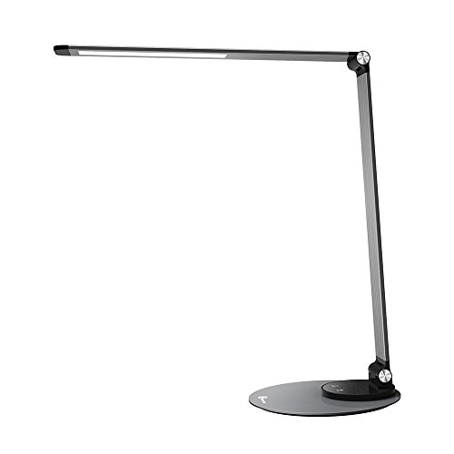 TaoTronics Aluminum Alloy Dimmable LED Desk Lamp with USB Charging Port, Table Lamp for Office Lighting, 3 Color Modes & 6 Brightness Levels, Philips EnabLED Licensing Program