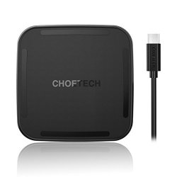 CHOETECH USB Type C Wireless Charging Pad 10W Fast Charge for Samsung Galaxy S9/S8/Note 8/S7/S7 Edge