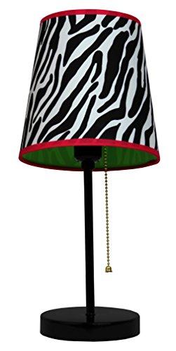 Limelights Fun Prints Table Lamp, Black/Zebra