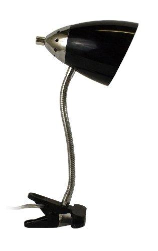Limelights Flossy Flexible Gooseneck Clip Light, Black
