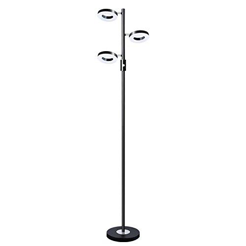SUNLLIPE 3 Lights LED Floor Lamp Adjustable Tree Lamp, 60 inch 21 Watt Warm White Torchiere Lighting for Living Room, Bedroom and Office