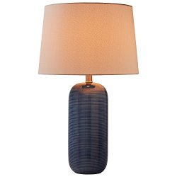 "Stone & Beam Leland Modern Textured Table Lamp with Bulb, 24.5"" H, Blue"