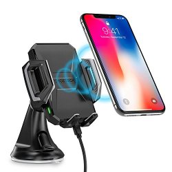 Wireless Car Charging Mount Holder for iPhone X/8/8 Plus,10W Fast Wireless Charger for Samsung Galaxy