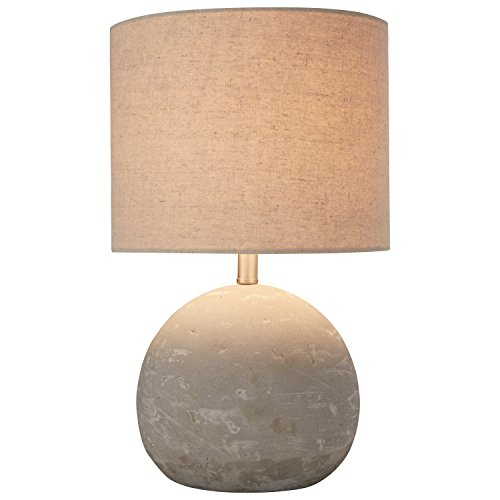 "Stone & Beam Industrial Concrete Table Lamp, 16"" H, with Bulb, Brown Shade"