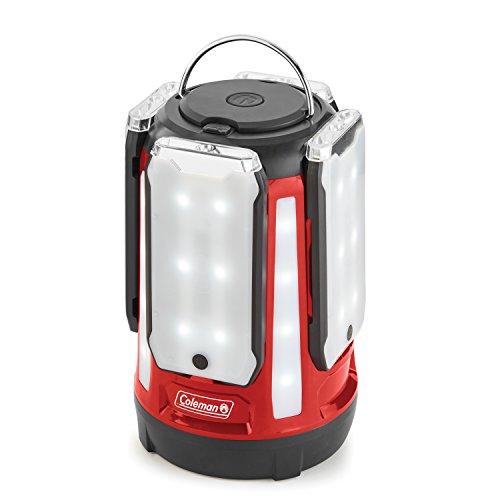Coleman 4-Panel 800l LED Quad Pro Lantern, Red