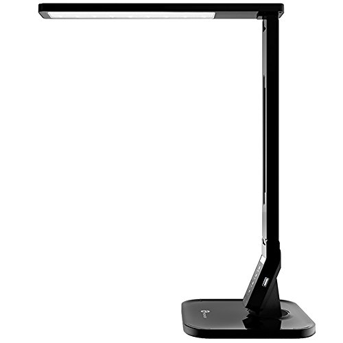TaoTronics LED Desk Lamp with USB Charging Port, 4 Lighting Modes with 5 Brightness Levels, 1h Timer, Touch Control, Memory Function, Black, 14W, Official Member of Philips EnabLED Licensing Program