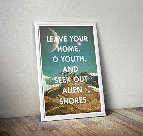 Petronius Inspired Adventure Art Print//Seek Out Alien Shores//Inspirational Astronomy and Space Themed Typographic Quote