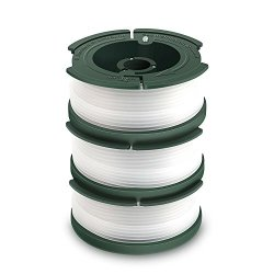 "GARDENOK Line String Trimmer Replacement Spool [ Compatible with Black & Decker AF-100/Replacement Autofeed Spool ], 30ft 0.065"", 3-Pack or 6-Pack Optional (3-Pack)"