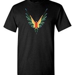 Maverick Bird Logo Logan Paul Custom T Shirt Christmas T-Shirt Gift t Shirt (S, Black)