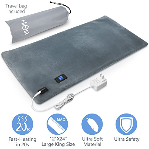 Ultra Safe King Size Heating Pad for Heat Therapy