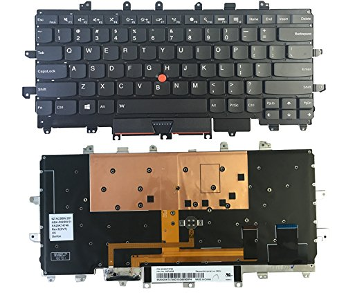 US Layout Backlit Without Frame Laptop Keyboard For Lenovo ThinkPad Carbon X1 / X1C ( 2016 Year / 4th Generation ) 20FB 20FC Series Laptop Copatible