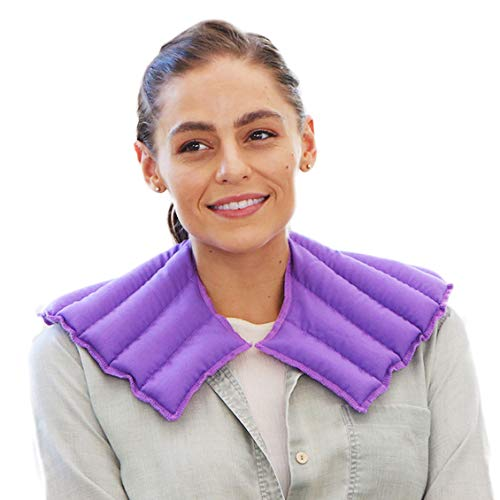 My Heating Pad- Neck & Shoulder Wrap—Lavender Flower Scent - Microwavable Heat Therapy Pack - Alleviates Neck Pain (Purple)