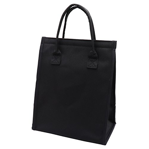 14-Can Large Insulated Lunch Bag Thermal Lunch Box Tote Cooler Bag for Women Men Work Picnic Camping (Black)