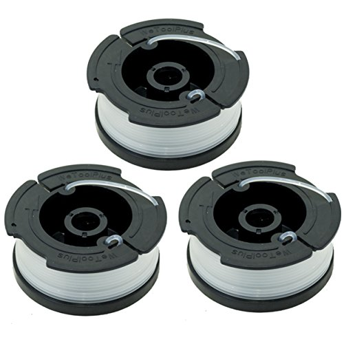 """LBK 0.065"""" Spool for BLACK+DECKER String Trimmers (Replacement Autofeed Spool), compatible with BLACK+DECKER AF-100,3-Pack"""