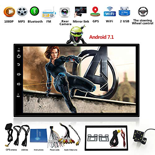 Android 7.1 Car Stereo WiFi Double Din with GPS Navigation