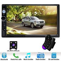 "Podofo Car Stereo Audio Double Din Radio, 7"" Touchscreen Digital LCD Monitor"