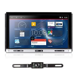 Upgarde Version Andriod 7.1 Double DIN Car Stereo –Ehotchpotch 7'' In Dash car Radio GPS Navigation Audio Receiver Bluetooth WIFI mirror link SD USB AM/FM/MP3/MP4 CD DVD Player + Rearview Camera