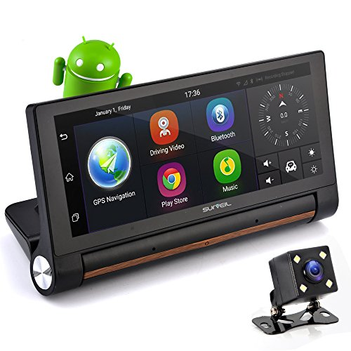 "GPS Touchscreen Android DVR Dashcam - 7"" Display"