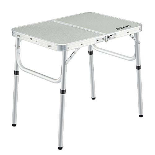"""REDCAMP Small Folding Table Adjustable Height 23.6""""x15.7""""x10.2""""/19"""", Aluminum Camping Table Lightweight"""