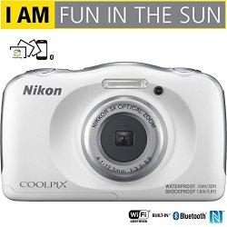 Nikon COOLPIX W100 13.2MP 1080P Digital Camera w/3x Zoom Lens, WiFi, SnapBridge - (Certified Refurbished) (White)