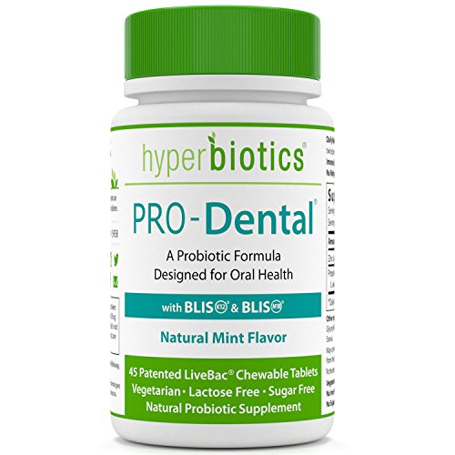 PRO-Dental: Probiotics for Oral & Dental Health - Targets Bad Breath at its Source - Top Oral Probiotic Strains Including S. salivarius BLIS K12 & BLIS M18 - Sugar Free (Chewable) - 45 Day Supply