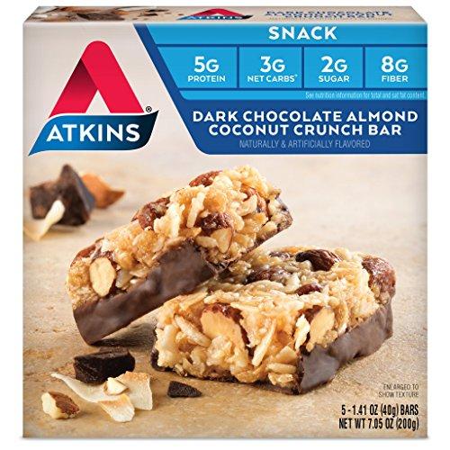 Atkins Snack Bars, Dark Chocolate Almond Coconut Crunch